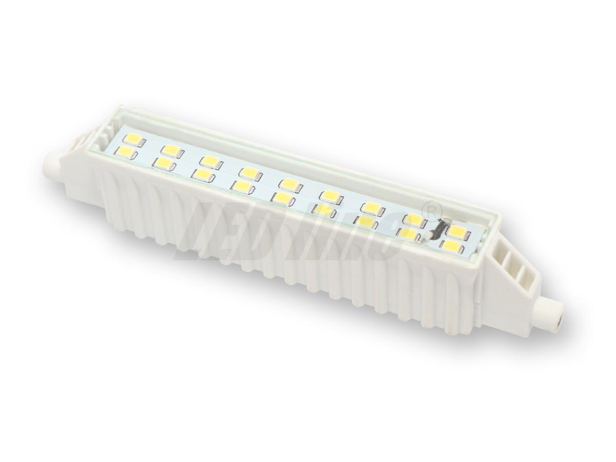 Ledin LED 6W - R7s náhrada velké halogenové trubice 118mm Teplá bílá